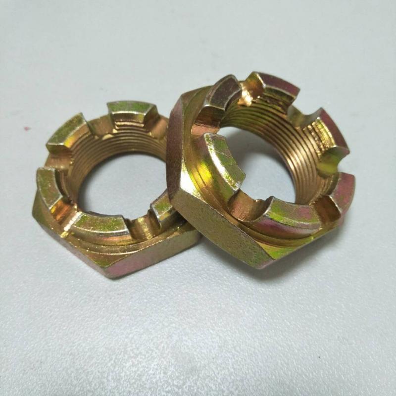 开槽螺母镀彩锌M30X1.5-6H